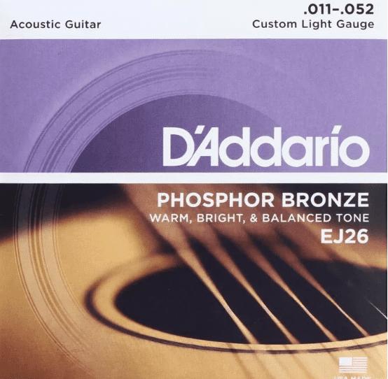 D'Addario EJ26-3D 11-52 cordas para  violão - tocando com estilo