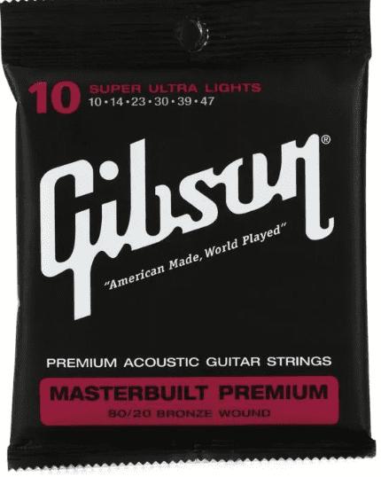 Gibson SAG-BRS10 corda para violão - tocando com estilo